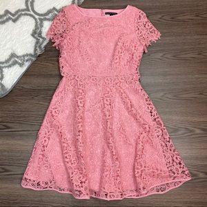 Boston Proper Pink Lace Dress Size 4